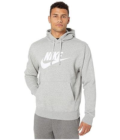 Nike NSW Club Hoodie Pullover Graphics (Dark Grey Heather/Matte Silver/White) Men