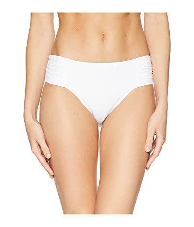 Tommy Bahama Pearl High-Waist Side-Shirred Bikini Bottom (White) Women