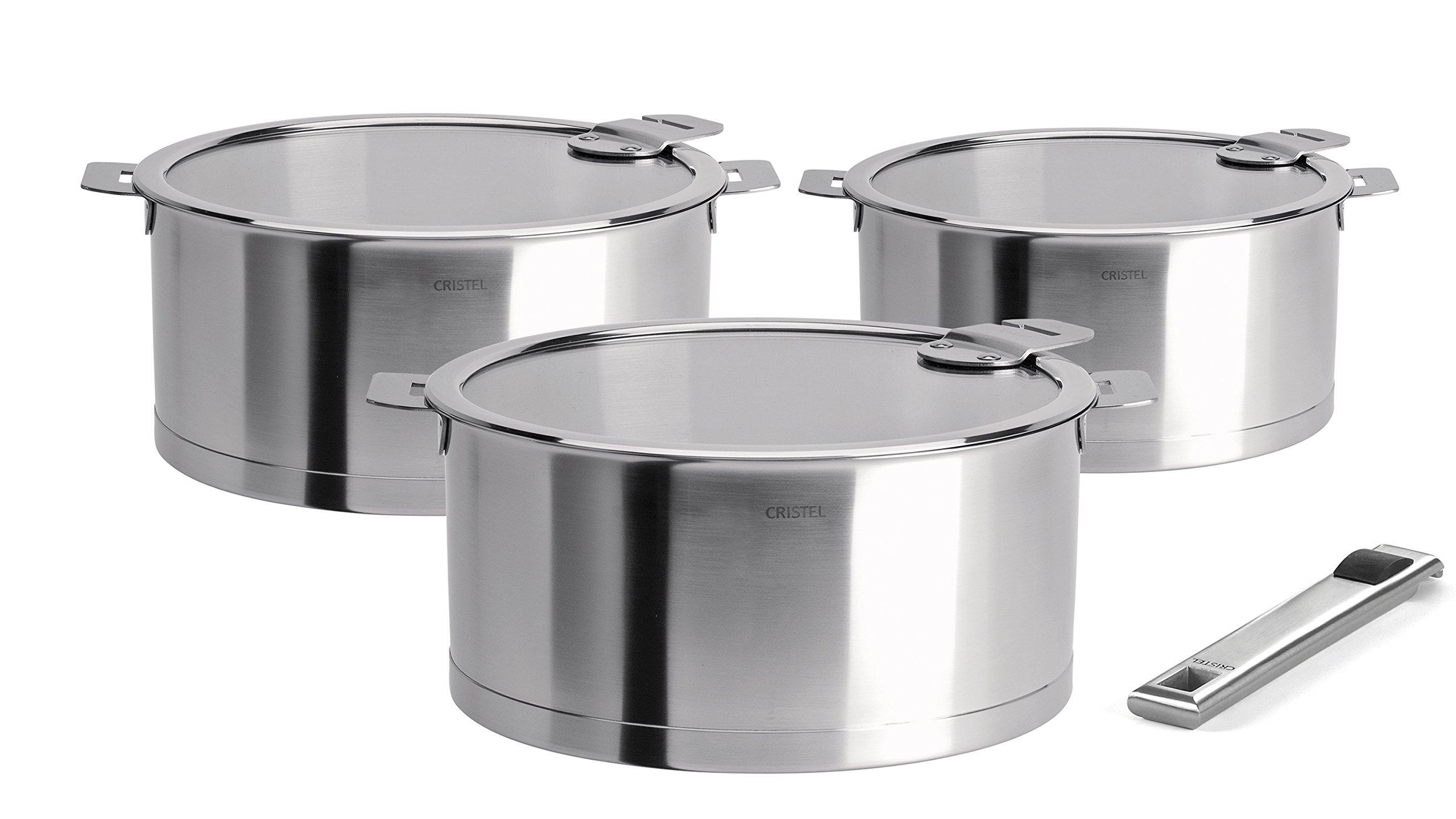 Cristel Strate S3CQLKSA Saucepan Silver