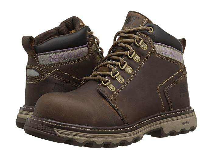 Caterpillar  Ellie Steel Toe (Dark Beige) Womens Work Lace-up Boots
