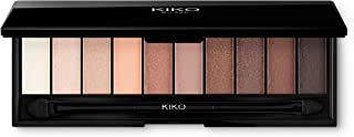 KIKO MILANO - Smart Makeup Eyeshadow Palette 02 Warm | 10 Shades & 3 Finishes: Matte Eyeshadow Palette, Pigmented Eyeshadow Palette and Satin | Eye Shadow w Mirror & 2-Sided Applicator | Made in Italy