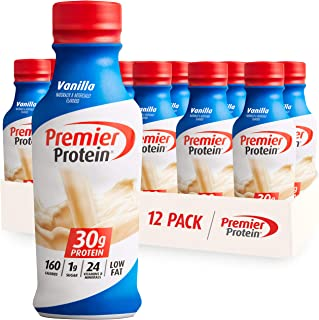 Premier Protein 30g Protein Shake, Vanilla, 14 Fl Oz (Pack of 12) bottle
