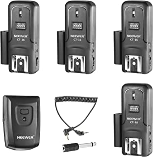 Neewer 16 Channels Wireless Radio Flash Speedlite Studio Trigger Set, Including (1) Transmitter and (4) Receivers, Fit for...