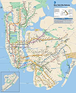 Gifts Delight Laminated 19x24 Poster: Official New York City Subway Map This is The Official map of The New York City Subway Updated as of June 2013 and Produced by The Metropolitan Transp