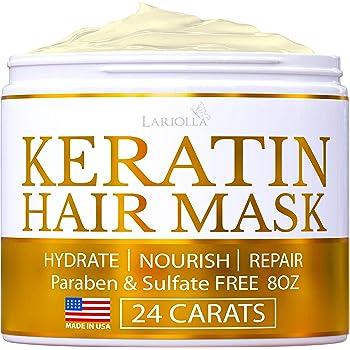 Amazon Com Keratin Hair Mask Repairs Dry Damaged Hair Professional Keratin Hair Treatment With Avocado Oil Aloe Vera Vitamin E Made In Usa Effective Keratin Complex Anti Frizz Beauty