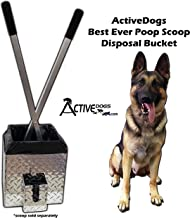 Activedogs Best Ever Dog Poop Scooper - All Aluminum Design Heavy Duty & Durable Waste Removal Shovel Scoop Tool - Built to Last - Made in The USA