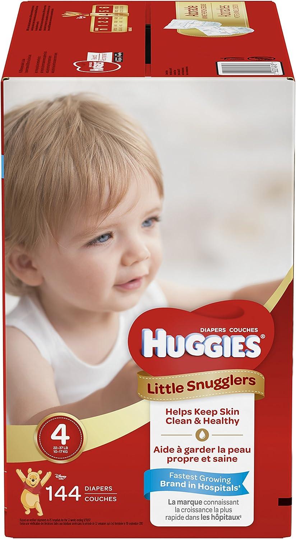 Huggies Little Snugglers Baby Diapers Count 激安特価品 最安値に挑戦 4 Econom Size 144