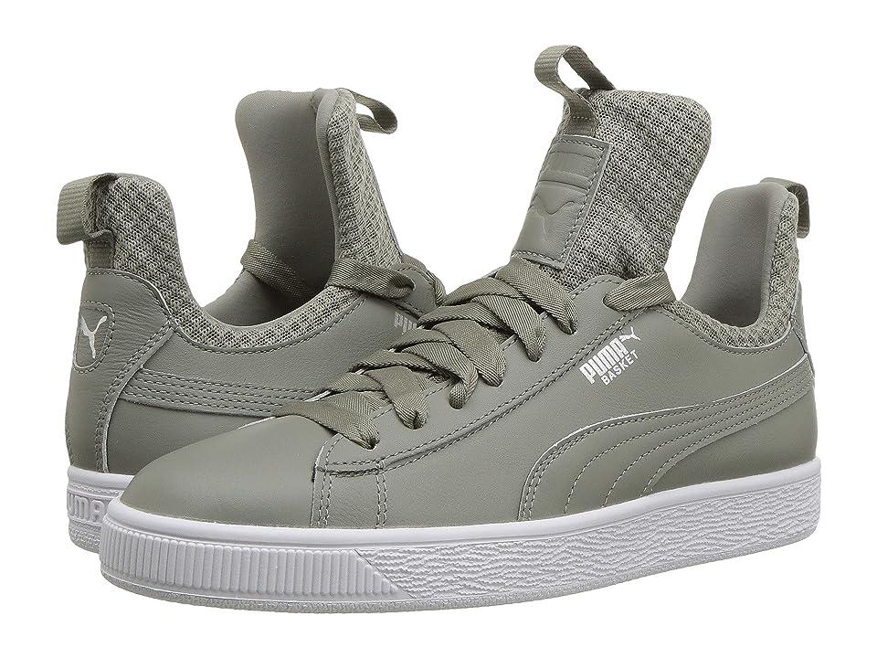 9cff998ad981ca PUMA Basket Fierce EP (Rock Ridge Puma White) Women s Shoes