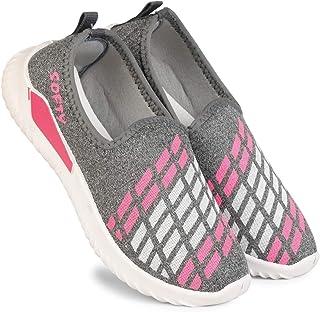 Claptrap Girls Slip On Sneakers for Women Walking Shoes for Women Grey