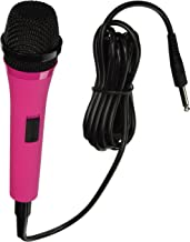 Singing Machine SMM205P Uni-Directional Dynamic Microphone with 10-Foot Cord – Pink