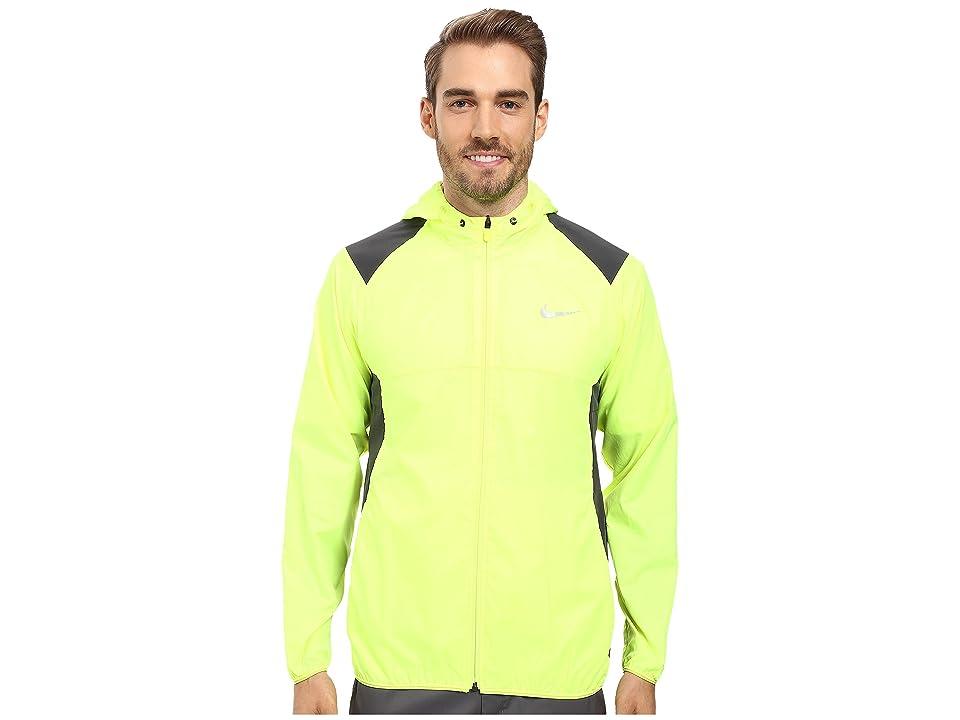 Nike Golf Printed Packable Hooded Jacket (Volt/Reflective Silver) Men