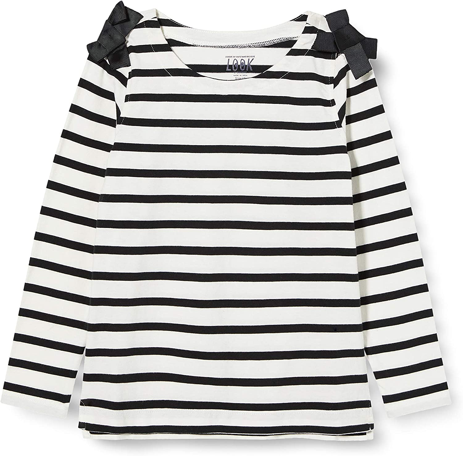 LOOK by crewcuts Girls 3//4 Sleeve Bow Shoulder top // J Crew Brand