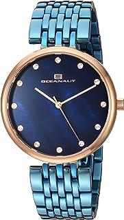 Oceanaut Women's Aerglo Quartz Stainless Steel Strap, Blue, 18.5 Casual Watch (Model: OC2206)