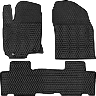 San Auto Car Rubber Floor Mat for Toyota RAV4 2014-2015-2016-2017-2018 Custom Fit Full Black Auto Liner Mats All Weather, Heavy Duty & Odorless