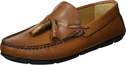 Kenneth Cole New York Men's Randall Driver Driving Style Loafer, Cognac, 8.5 M US