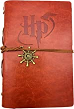 Refillable Travelers Notebook - Vintage Handmade Leather Note Book for Hogwarts Potter Collector 5 X 7.2 inch