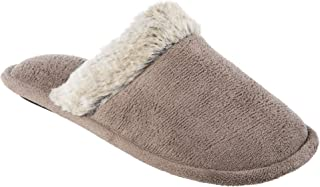 Isotoner Women'sMicroterry Spa Clog Slipper with Enhanced Heel Cushion