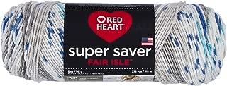 Red Heart Super Saver Fair Isle, Calm Yarn