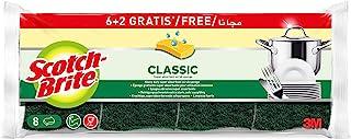 Scotch-Brite Eponge Grattante Verte Classic x 6+2