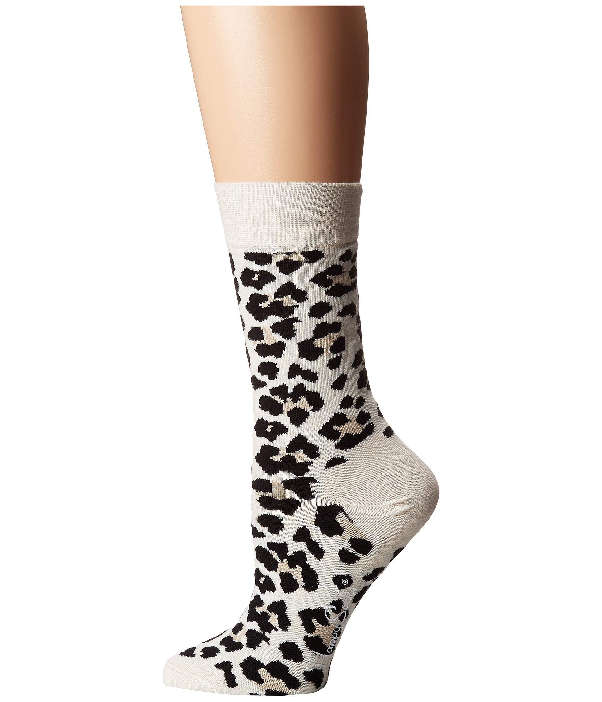 Happy Socks Socks white Leopard Happy Black UdzqdHw