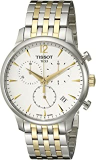 Men's T0636172203700 Tradition Analog Display Swiss Quartz Two Tone Watch