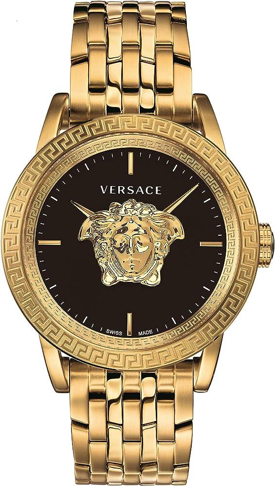 Versace,orologio per uomo, in acciaio inossidabile pvd oro VERD00819