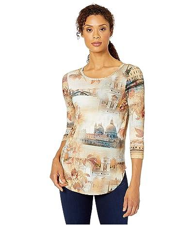 Karen Kane Italian Montage Shirttail Tee (Print) Women
