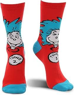 elope Dr. Seuss Thing 1 & 2 Costume Crew Socks