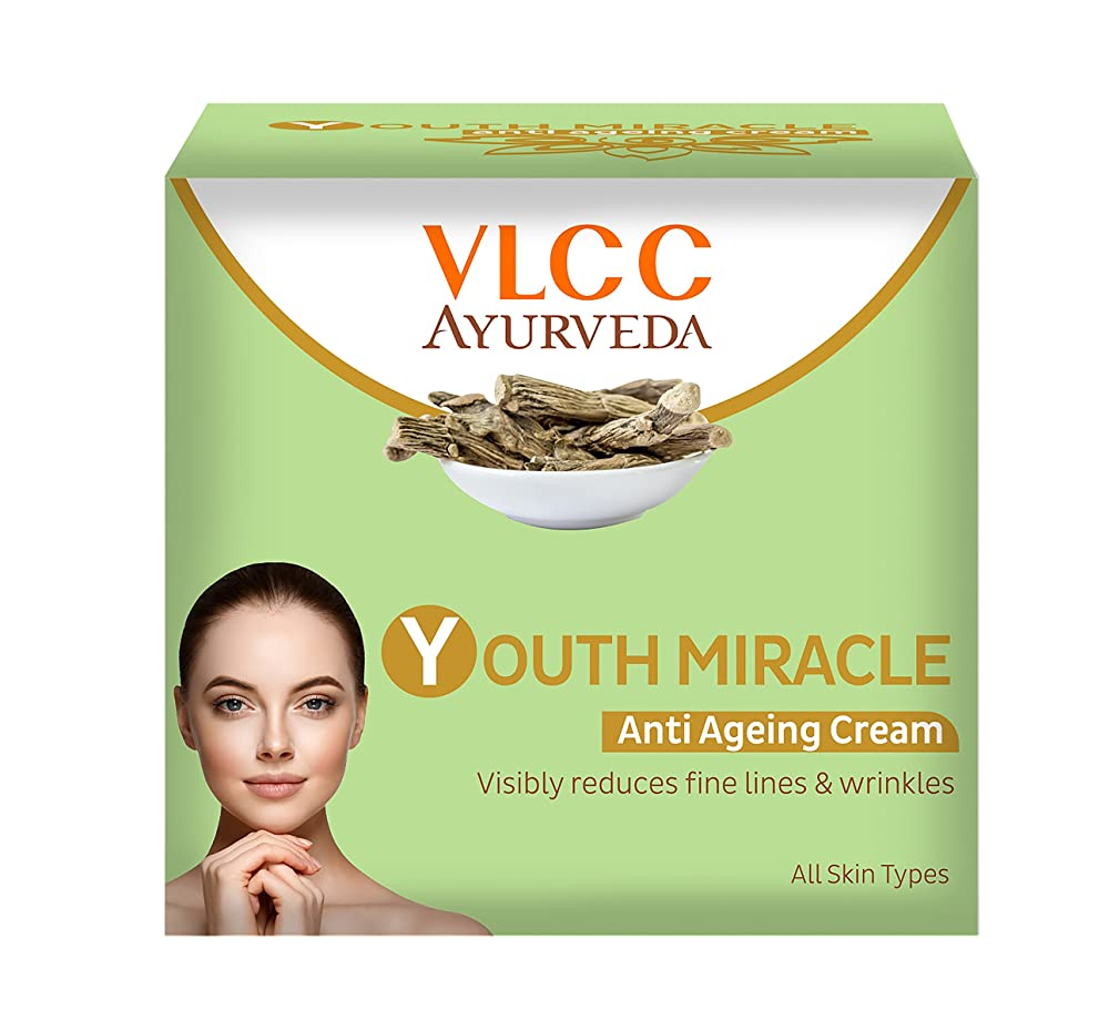 米ドルきゅうり見捨てられたVLCC Ayurveda Youth Miracle Anti Ageing Cream, 50g