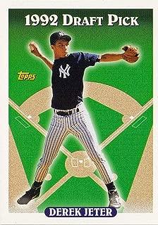1993 Derek Jeter Topps Mint Rookie Card #98 Showing Him As the Yankees 1992 #1 Draft Pick M (Mint)