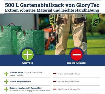 Glorytec 2-Pack Garden Bags - 132 Gallons Leaf Bag - Price-Performance Winner 2018 - Large Reusable Gardening Bagster...