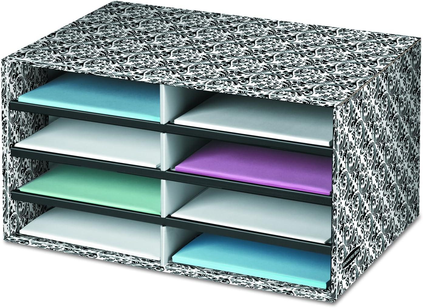 5. Bankers Box Decorative Eight Compartment Literature Sorter