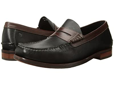 Florsheim Heads Up Penny Loafer (Black/Brown Smooth) Men