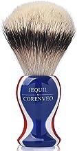 Je&Co High Mountain White Silvertip Badger Hair Shaving Brush, Supreme Silvertip Handmade Brush (Flag Color)