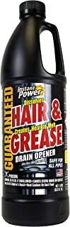 Instant Power 1969 Hair and Grease Drain Opener, 1 l, Liquid,Black
