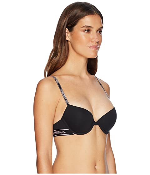 Bra Logoband Iconic Black Push Up Emporio Armani OBqxwWS7Xq