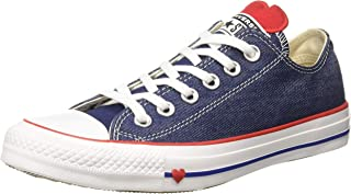 Converse Women's Cotton Indigo/Enamel Red/White Sneakers-6 UK/India (39 EU) (8907788162642)