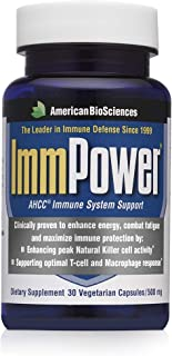 American BioSciences ImmPower AHCC Supplement, Enhanced Immune Support, Natural Killer Cell Activity and Cytokine Producti...