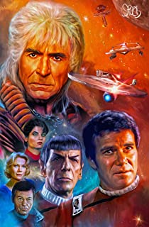Star Trek II Wrath of Kahn Print 11x17- Captain James T Kirk and Mr Spock with Kahn by Mark Spears