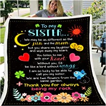 to My Wife Message Letter Quilt Blanket Languages Print Flannel Blanket Home Textiles Bed Sofa Love Blanket,B,150x200cm(59...
