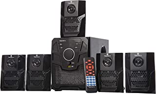 TRONICA Version:2 Atom Series LED Spectrum 5.1 Home Theater System with Bluetooth/SD Card/Pen Drive/FM/AUX Support & Remote (5.1)