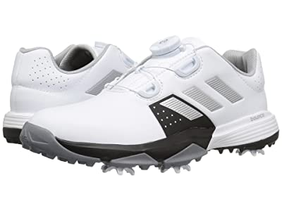 adidas Golf Jr. Adipower Boa (Little Kid/Big Kid) (Ftwr White/Silver Metallic/Core Black) Men