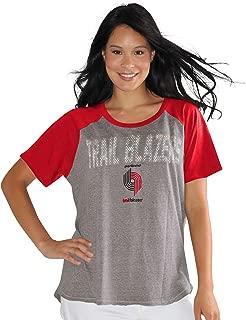 Touch by Alyssa Milano NBA Portland Trail Blazers Conference Tee Plus, 3X, Heather Grey