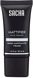 Mattifier & Face Primer by Sacha Cosmetics, Best Foundation Makeup Base, Smooths Skin, Fills Fine Lines & Pores, Absorbs Oil & Prevents Shine. 1.0 oz