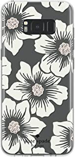 kate spade new york Protective Hardshell Case for Samsung Galaxy S8 Plus - Hollyhock Floral Clear/Cream with Stones