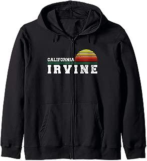 Irvine California Distressed CA Gift Souvenir Zip Hoodie