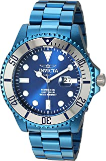 Invicta Men's Pro Diver Quartz Diving Watch with Stainless-Steel Strap, Blue, 22 (Model: 27538)