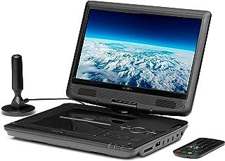 Reflexion DVD1017 Draagbare dvd-speler van 25,4 cm (10 inch) met DVB-T2 HD tuner, afstandsbediening, 12V adapter, HDMI, US...