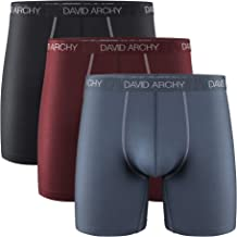 David Archy 3 Pack Men's Ultra Soft Mesh Quick Dry Sports Underwear Breathable Boxer Briefs