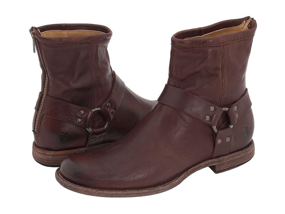Frye Phillip Harness (Dark Brown Vintage Leather) Men